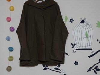 布帛パーカー コットンツイル カーキグリーンの画像