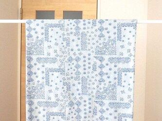 暖簾 カフェカーテン 受注製作 間仕切り製作も可 ブルーグレー  の画像