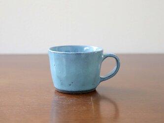 黒御影土と水色釉薬のマグカップ * 2の画像