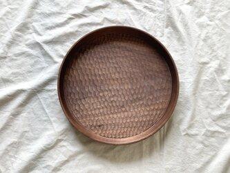 丸盆Bφ30cm(ウォールナット)の画像