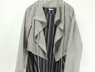 羽織 リボン結びボレロ(チャコール)の画像