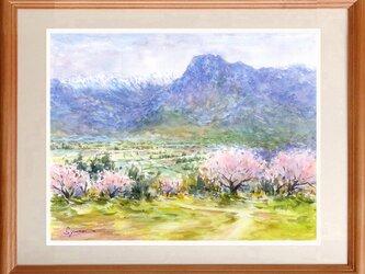 水彩画原画 信州の春 #459の画像