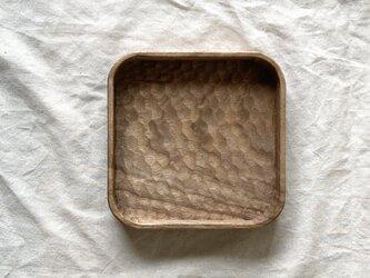 クルミの角盆(S)の画像