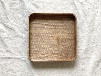 クルミの角盆(L)の画像