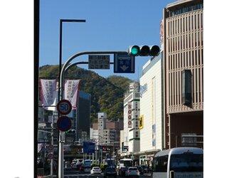 新緑「フラワーロード」 「緑のある暮らし」2L判サイズ光沢写真縦 神戸風景写真 神戸六甲山 写真のみ 送料無料の画像
