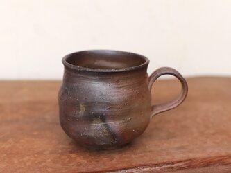 備前焼 コーヒーカップ(大) ロクロ目 c7-046の画像