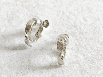 Twist texture Hoop Earrings (ねじばね式)の画像