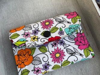 ■軽い!ミニ財布☆USAコットン☆マイケル•ミラー・バラ・薔薇・鳥の画像