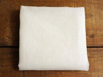 Decoオリジナル 上質リネン・シングルガーゼのハンカチ/スカーフ オフホワイトの画像