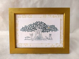 銅版画 ブッダの森の画像