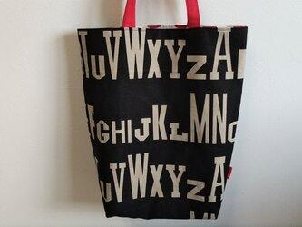 リネントートバッグ 英字 2の画像