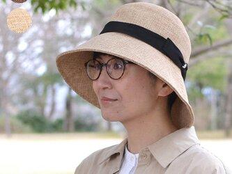 夏素材のツバ広帽~Panamacloth Shade Cloche~の画像