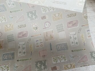 透ける模様紙【stationery】の画像