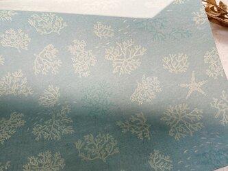 透ける模様紙【珊瑚の海】の画像