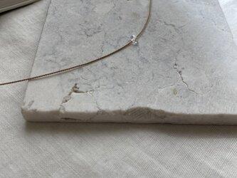 14kgf NYハーキマーダイヤモンドコードネックレスの画像