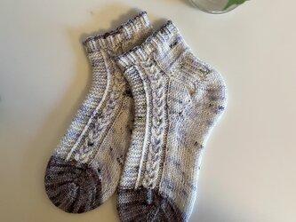 No.528 手編み靴下 の画像