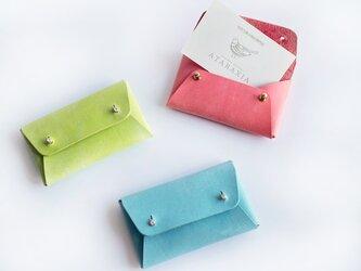 イタリアンレザーの名刺ケース(カードケース) 全3色 選べる金具カラー☆の画像