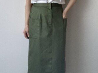 受注製作 サイズを選べるタイトスカート グリーンの画像
