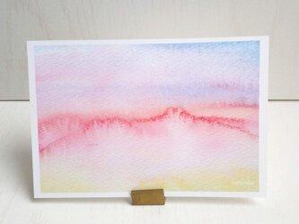 癒やし 水彩画 「グラデーションカラー」 ポストカード/3枚セット ナチュラコの画像