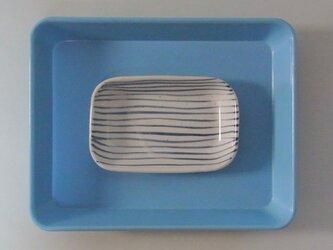 角皿 磁器 ボーダーの画像