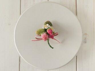 染め花イチゴのポニーフックの画像