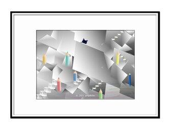 「見える財産と見えない富の価値」 猫 ほっこり癒しのイラストA4サイズポスター No.780の画像