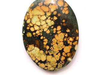 チベット産ターコイズ[196] 37Cts 31x23mm ルース/天然石/カボションの画像