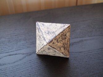 【陶のオブジェ】錆土八面体の画像