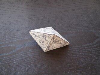 【陶のオブジェ】錆土六面体の画像