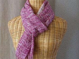 手織りコットンストール・・アザレアの画像