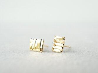 K18 Plate earringsの画像