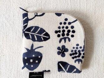 型染め 財布「苺の庭」の画像