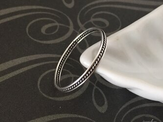 Twist black - silver ringの画像