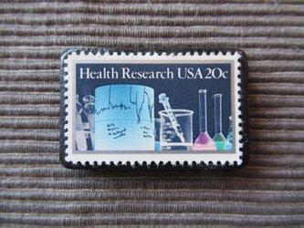アメリカ  切手ブローチ 7363の画像