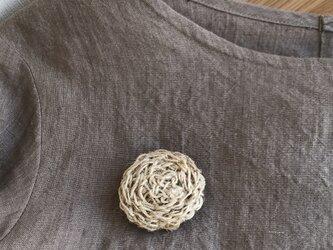 麻紐のブローチ(大)の画像