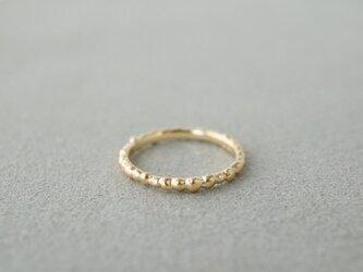 K18 Tsubu ring / Semi Matte finishの画像