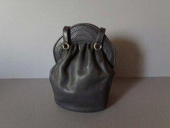 ・・・K様ご注文作品・・・stitch hand bag (black)の画像