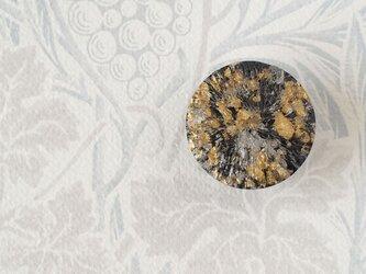 イタリア製ボタンの帯留◎ゴールド×シルバー×ブラック/A【送料無料】の画像
