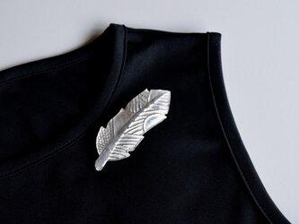 ブローチ(銀彩)羽根-2の画像