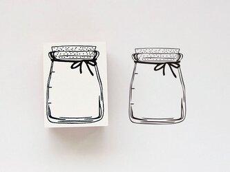 ラバースタンプ ガラス瓶の画像