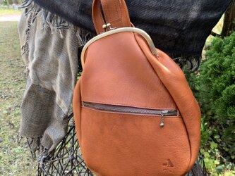 『受注製作品』がまぐちBody Bag15(F) 栃木レザー ブラウンの画像