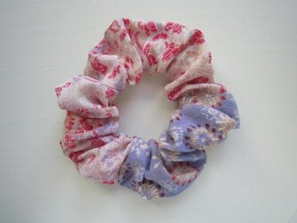 着物生地のシュシュ(ピンク)の画像