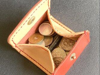 【Coins BanBan】BOX型なのに小銭を分別 C-01wk コインケース 小銭入れ レザーの画像
