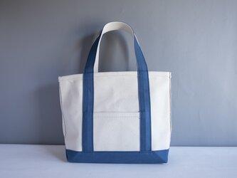 【コラボ商品】アーミーダック コールバッグ トートバッグ アウトドア 帆布 キャンバス ブルー×キナリ ak-55kpの画像
