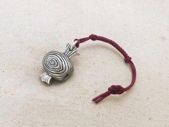 銀製の鈴 『 打出の小槌・木目 』 (シルバー925) 根付・帯飾りの画像