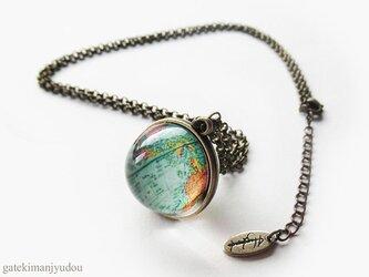地球儀ネックレス【長さ変更可】の画像