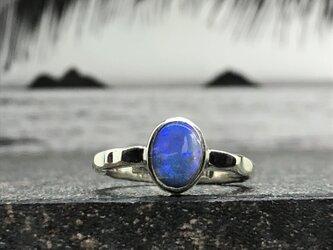 "Opal Ring of Ripple Arm ""青い海の色のオパールリング""の画像"
