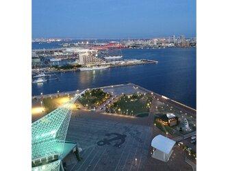 みなと神戸に咲く華 「夕夜景」 「港のある暮らし」2L判サイズ光沢写真縦  写真のみ  神戸風景写真の画像