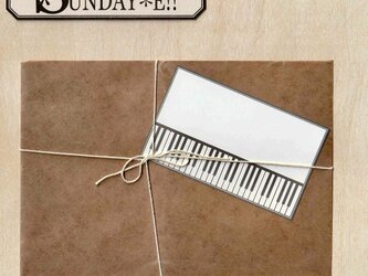 名刺サイズカード ピアノ 枠柄の画像