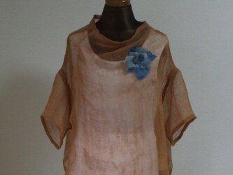 蚊帳から手縫いブラウス 麻の画像